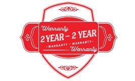 2 years warranty illustration design stamp badge icon. 2 years warranty illustration design stamp badge illustration icon vector illustration