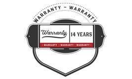 14 years warranty illustration design stamp badge icon. 14 years warranty illustration design stamp badge illustration icon stock illustration