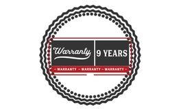 9 years warranty illustration design stamp badge icon. 9 years warranty illustration design stamp badge illustration icon royalty free illustration