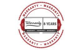 8 years warranty illustration design stamp badge icon. 8 years warranty illustration design stamp badge illustration icon stock illustration