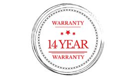 14 years warranty illustration design. Stamp badge icon royalty free illustration
