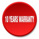 10 years warranty button. 10 years warranty round button isolated on white background. 10 years warranty Stock Illustration
