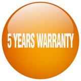 5 years warranty button. 5 years warranty round button isolated on white background. 5 years warranty vector illustration