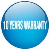 10 years warranty button. 10 years warranty round button isolated on white background. 10 years warranty Royalty Free Illustration