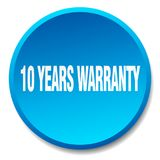 10 years warranty button. 10 years warranty round button isolated on white background. 10 years warranty Vector Illustration