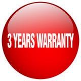 3 years warranty button. 3 years warranty round button isolated on white background. 3 years warranty stock illustration