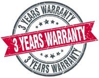 3 years warranty stamp. 3 years warranty round grunge vintage ribbon stamp. 3 years warranty stock illustration