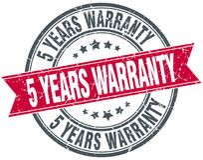 5 years warranty stamp. 5 years warranty round grunge vintage ribbon stamp. 5 years warranty vector illustration