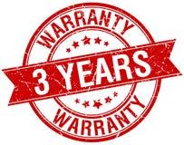 3 years warranty stamp. 3 years warranty round grunge vintage ribbon stamp. 3 years warranty royalty free illustration