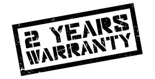 2 years warranty rubber stamp. On white. Print, impress, overprint Royalty Free Stock Photo