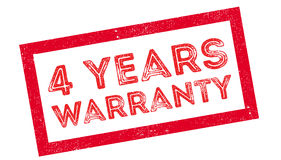 4 years warranty rubber stamp Stock Photos