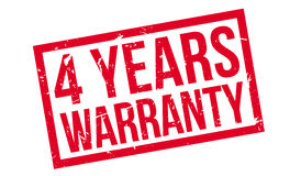 4 years warranty rubber stamp Royalty Free Stock Photos