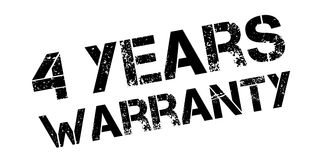 4 years warranty rubber stamp. On white. Print, impress, overprint Stock Photos