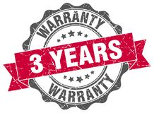 3 years warranty stamp. 3 years warranty grunge stamp on white background Royalty Free Stock Photos