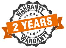 2 years warranty stamp. 2 years warranty grunge stamp on white background Royalty Free Stock Photos