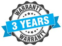 3 years warranty stamp. 3 years warranty grunge stamp on white background Royalty Free Stock Image