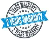 2 years warranty stamp. 2 years warranty round grunge vintage ribbon stamp. 2 years warranty Stock Images