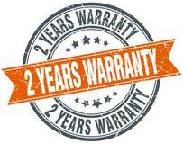 2 years warranty stamp. 2 years warranty round grunge vintage ribbon stamp. 2 years warranty stock illustration