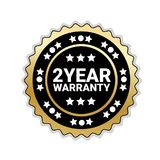 2 Years Of Warranty Sticker Isolated Golden Seal Icon. Vector Illustration vector illustration