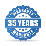35 years warranty vector icon Stock Image
