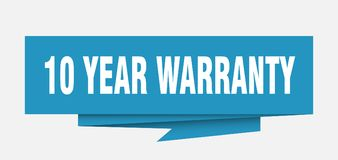 10 years warranty. 10 year warranty sign. 10 year warranty paper origami speech bubble. 10 year warranty tag. 10 year warranty banner vector illustration