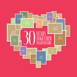 30 years of wedding or marriage  icon, illustration Stock Photos