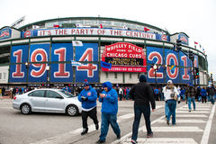 100 years of Wrigley Field Royalty Free Stock Photos