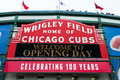 100 years of Wrigley Field Stock Image