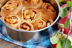 Yeast apple cake Stock Photography
