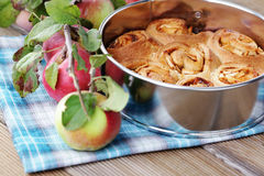 Yeast apple cake Royalty Free Stock Photography