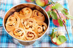 Yeast apple cake Stock Photos
