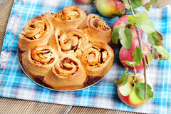 Yeast apple cake Stock Photo