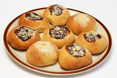Yeast buns Stock Image