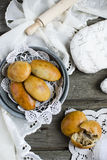 Yeast buns with meat Royalty Free Stock Photography