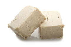 Yeast cubes Stock Images