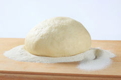 Yeast dough. On a cutting board Stock Photos