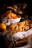 Yeast dough cake with orange marmolade Stock Image