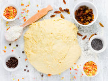Yeast dough for Easter cake kulich Easter bread, paska, paskha Stock Photo