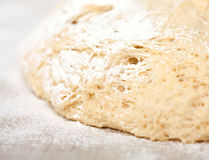 Yeast dough with flour. Making apple pies Royalty Free Stock Photo