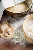 Yeast dough let stand to rise Stock Photography