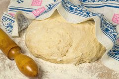 Yeast dough for making pies, patties and buns Stock Photography