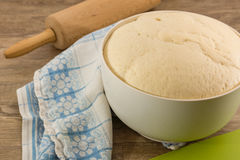 Yeast dough. The preparation of yeast dough Royalty Free Stock Photos