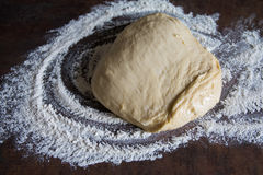 Yeast dough. Preparation before baking Royalty Free Stock Images