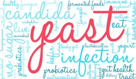 Yeast Infection Word Cloud. On a white background Royalty Free Stock Images