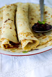 Yeast pancakes Stock Images