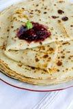 Yeast pancakes Royalty Free Stock Photos