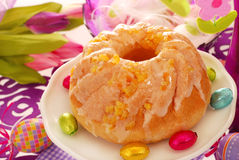 Yeast ring cake for easter Royalty Free Stock Images