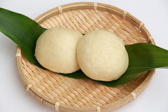 Yeast steamed buns. It is steamed bread of yeast in Japan Royalty Free Stock Photography