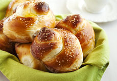 Yeast sweet buns Stock Photography