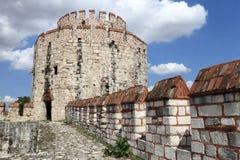 Yedikule堡垒塔看法  库存照片